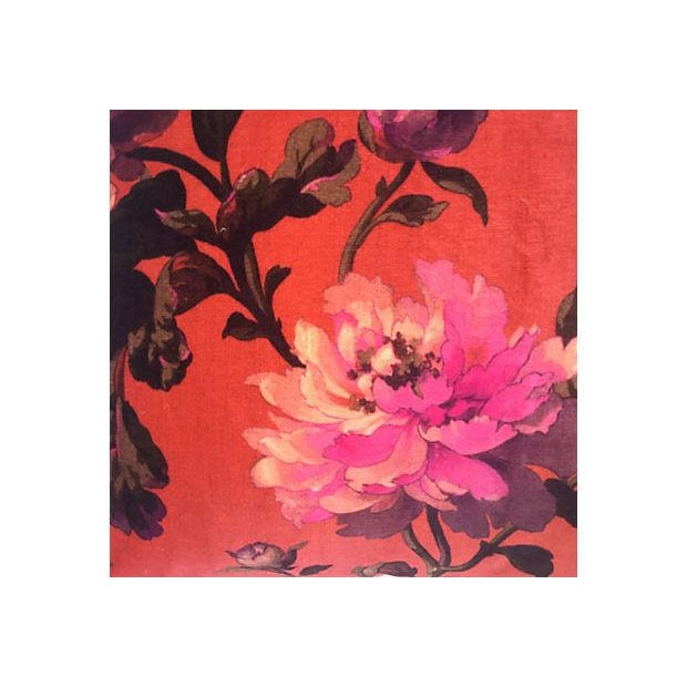 House of Hackney Floral Velvet Pillows - A Pair - Image 2 of 4