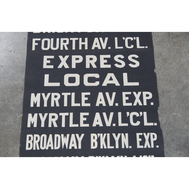Vintage New York City Subway Scroll - Image 5 of 7