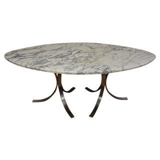 Italian Marble & Steel Dining Table