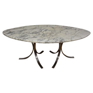 Italian Marble & Steel Dining Table