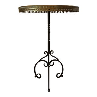 Italian Wrought Iron Base & Marble Top Bistro Table