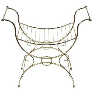 1960s Gilt Metal Vanity Seat