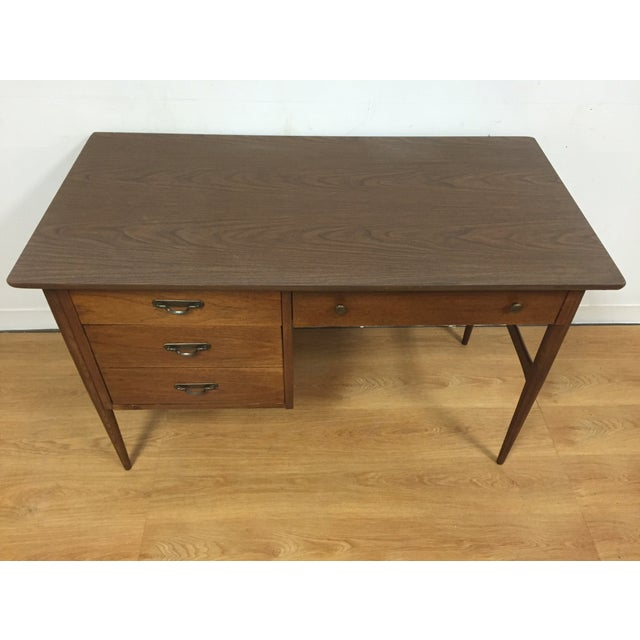 Walnut And Formica Desk - Image 3 of 10