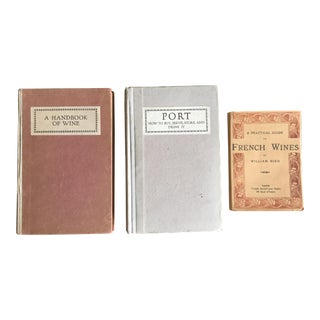 1920s Vintage Wine Books - Set of 3