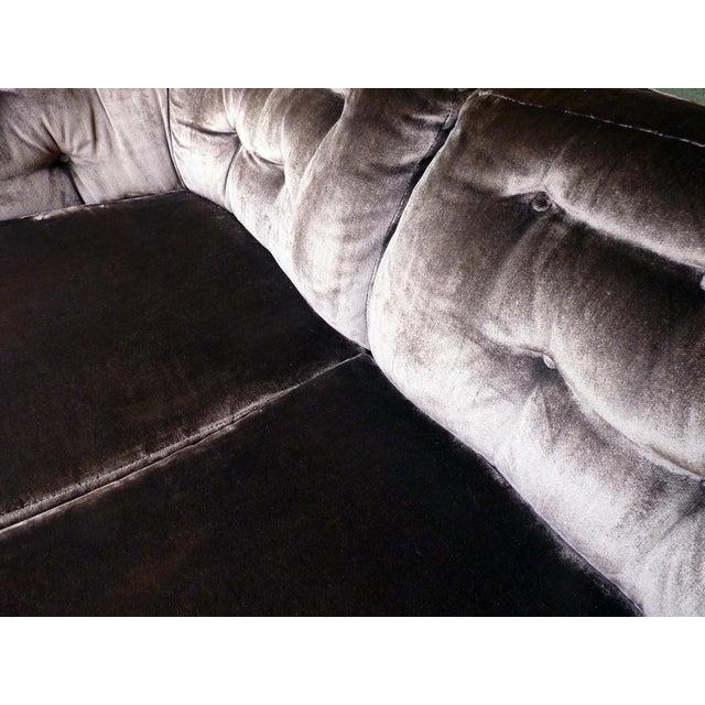 Image of MCM 3 Seat Velvet Sofa, Milo Baughman Attributed