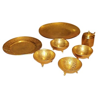 All-Over-Gold Serving Set - 7 Pieces