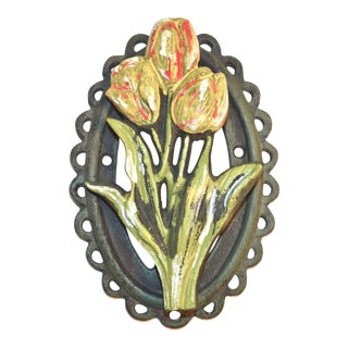 Hand-Painted Tulip Door Knocker