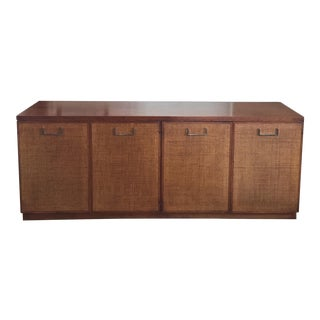 Founders Style Mid-Century Cane & Walnut Buffet