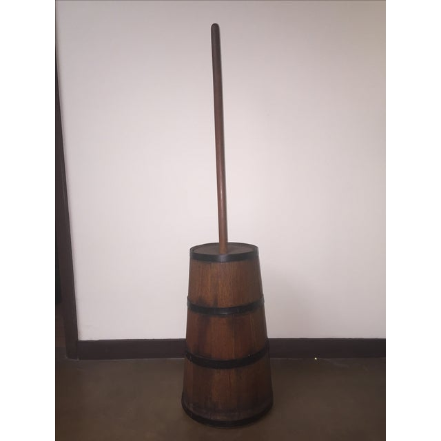 Antique Wooden Butter Churn - Image 2 of 11