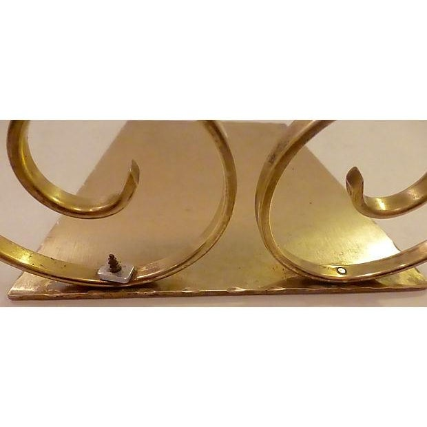 Solid Brass Bookends - A Pair - Image 6 of 6