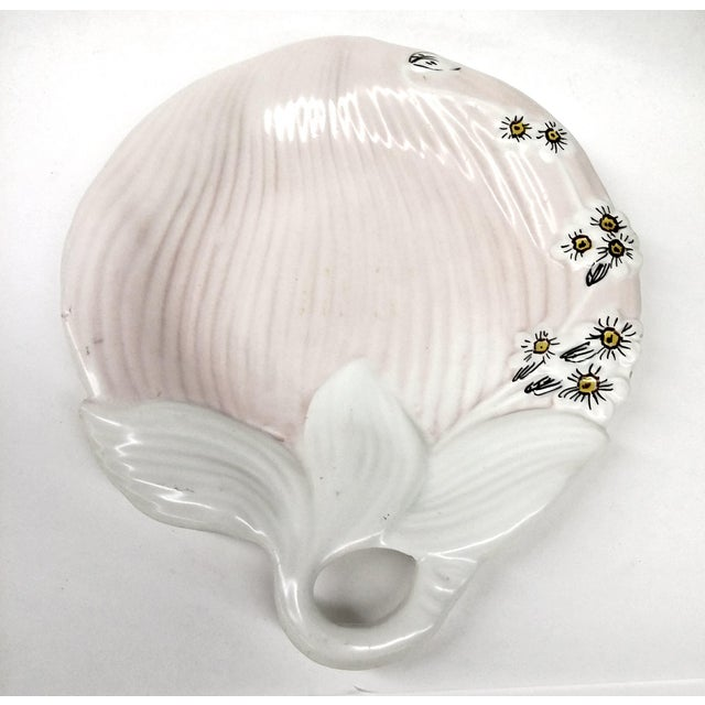 Mid-Century Pink & White Trinket Dish - Image 5 of 9