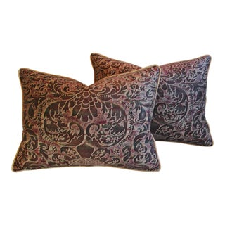 Italian Mariano Fortuny Caravaggio Feather & Down Pillows - Pair