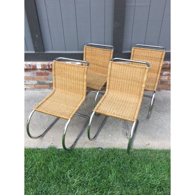 Mies Van Der Rohe M10 Dining Chairs - Set of 4 - Image 3 of 11