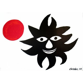 1968 Sun and Moon Poster by Alexander Calder