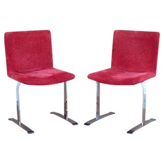 Steel Chairs in the Style of Saporiti - Set of 8