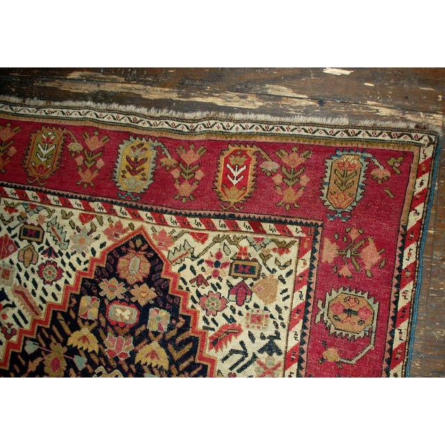 1880s Antique Hand Made Caucasian Karabagh Rug- 4′6″ × 11′7″ - Image 5 of 10
