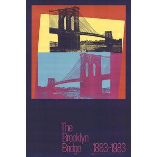 1983 Brooklyn Bridge Centennial Poster by Andy Warhol