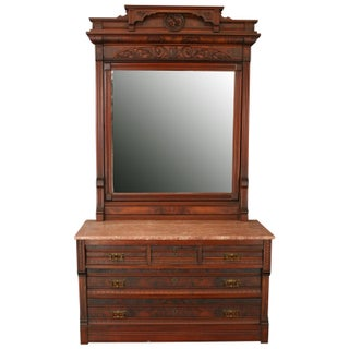 Antique Eastlake Vanity Table