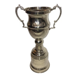 Reproduction Chrome Over Brass Sports Trophy