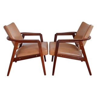 Bernadotte Danish Modern Lounge Chairs - Pair