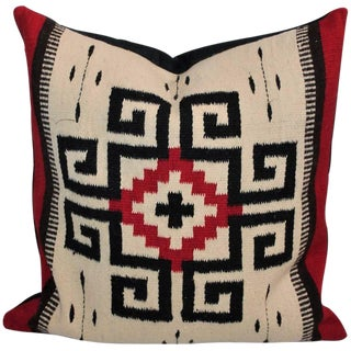 Early Mexican Tex Coco Indian Weaving Pillow