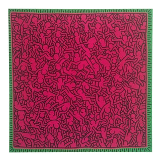 "1984 Keith Haring Original Pop Art "" Untitled Pink People "" Lithograph Print"