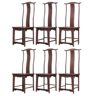 Chinese Yoke Back Officials Hat Chairs - Set of 6