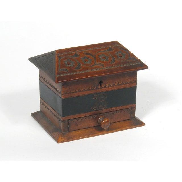 Image of Antique Scandinavian Chip Art Box