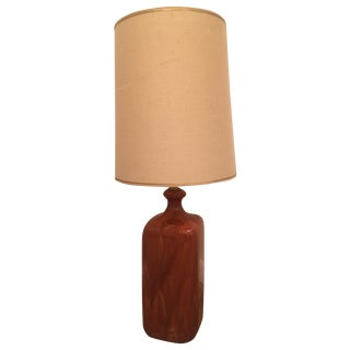 Mid-Century Orange Ceramic Drip Glaze Retro Lamp