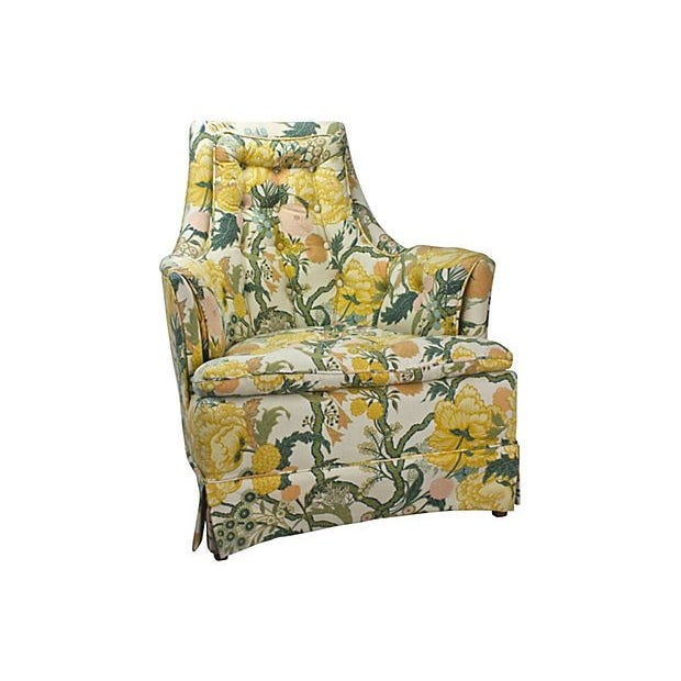 1960s Hollywood Regency Upholstered Chair - Image 1 of 5