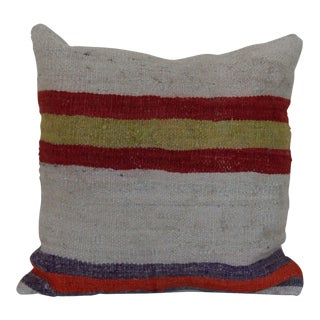 Striped Vintage Kilim Rug Pillow