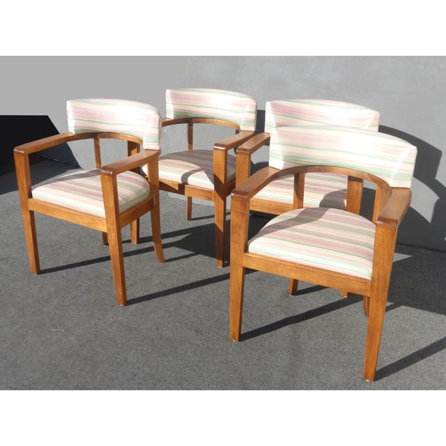 Mid-Century Danish Modern Leather Arm Chairs - 4 - Image 5 of 11