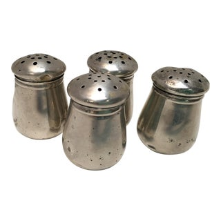 Early 1900s Wolfenden Sterling Silver Salt Shakers - Set of 4