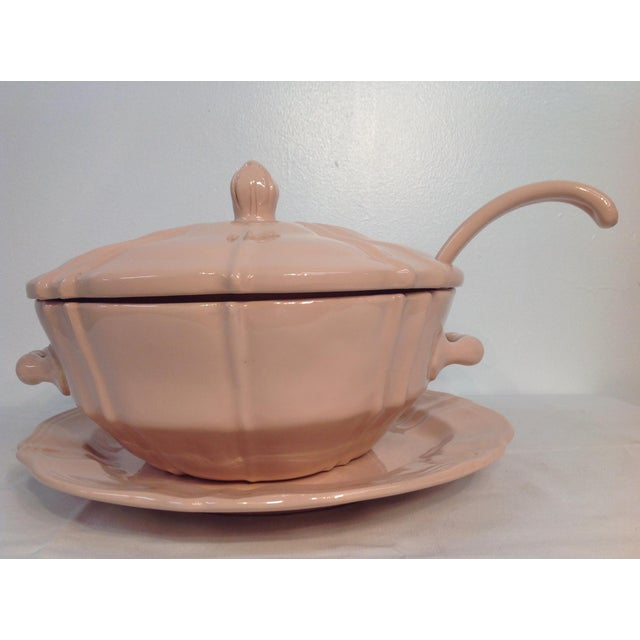 Pink 1920s Soup Tureen With Lid And Ladle - Image 2 of 8