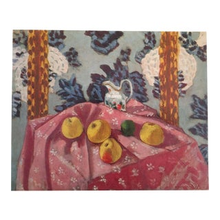 "Matisse Original Vintage 1973 Lithograph Print "" Still Life With Apples on Pink Cloth """