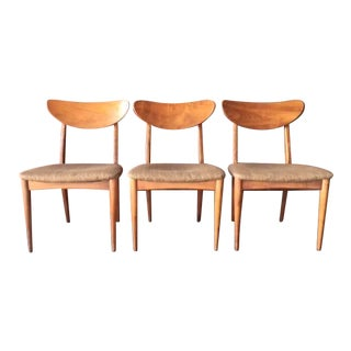Danish Mid-Century Modern Walnut Dining Chairs - Set of 3