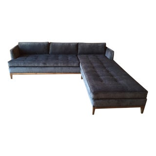 Mid-Century Style Custom Reversible Sofa Chaise Lounge