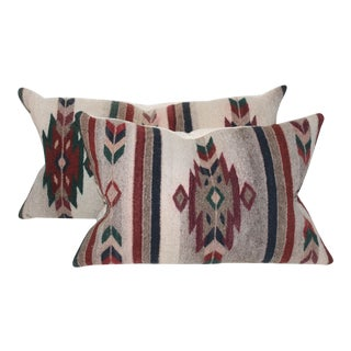 Native American Serape Pillows - a Pair