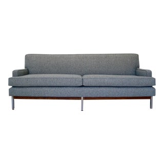 Mid-Century Modern Tweed Sofa