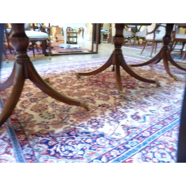 Kittinger Triple Pedestal Mahogany Dining Table - Image 4 of 5