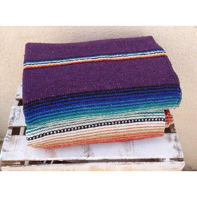 Purple Striped Serape-Style Throw - Image 6 of 8