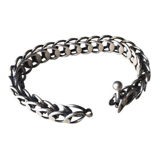 Hans Hansen Silver Modernist Bracelet