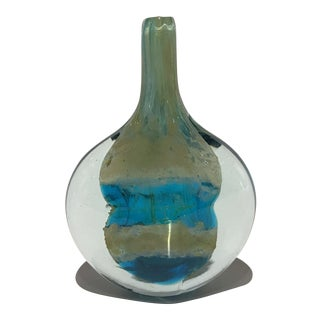 Early Handcrafted 'Cut Ice' Fish Vase by Michael Harris for MDina
