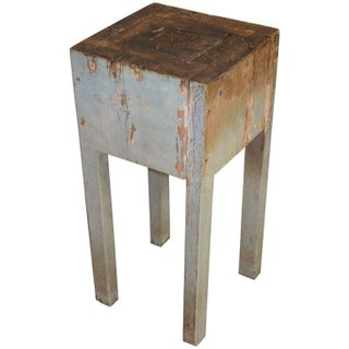 Primitive Petite Butcher Block Side Table