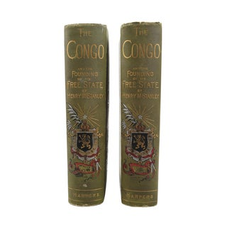 'The Congo' by Henry Stanley 1885 Books - A Pair