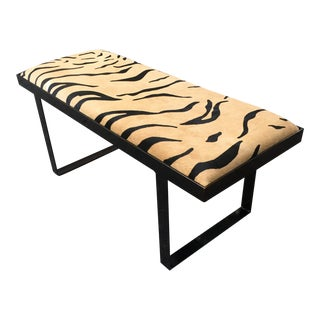 Tiger Hair & Hide Bench