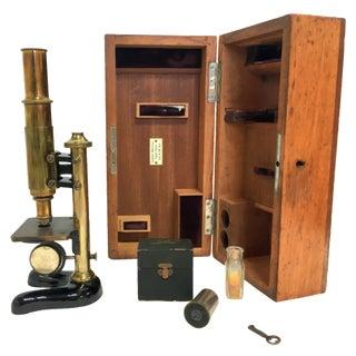 19th-C. Ernst Leitz Wetzlar Microscope