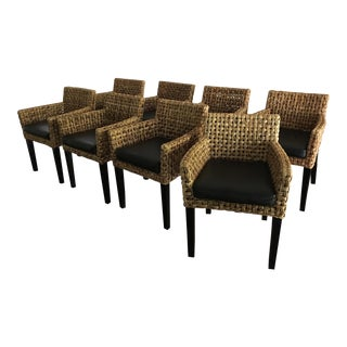 Rattan Dining Chairs - Set of 8