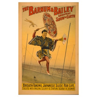 The Slide for Life - Print of 1800s Circus Poster