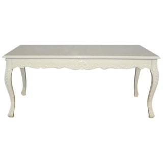 French Louis XV Style White Dining Table